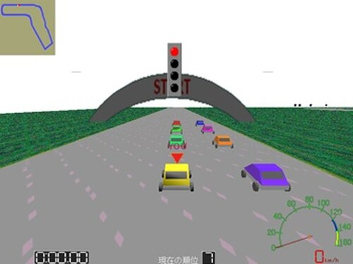 自動車レース Game Screen Shot4